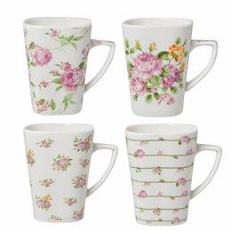 Clayre & Eef Mugs 4 pieces 11*8*10 cm / 0,3L