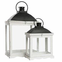 Clayre & Eef Lantern (2) 42*26*65/33*18*44 cm