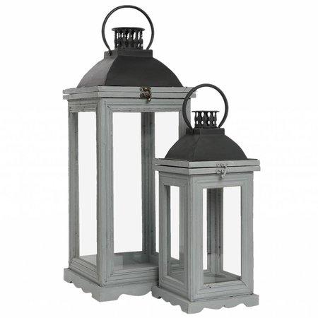 Clayre & Eef Lantern (2) 24*24*61/17*17*43 cm