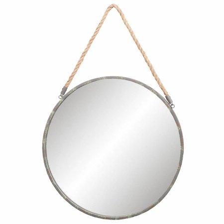 Clayre & Eef 52S121 Spiegel Kleur: grijs Materiaal: ijzer Afmeting: Ø 56*3 cm