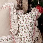 ECM - ENCHANTING CHRISTMAS MELODIES- KERST MET HULST EN VOGELTJES, WIT, BEIGE GROEN EN ROOD