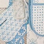 Mixed Patterns textiel blauw