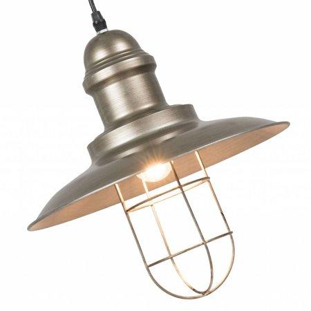 Clayre & Eef 6LMP490 Hanglamp Materiaal: ijzer Kleur: grijs Afmeting: 20*31*23