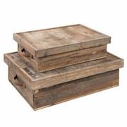 Clayre & Eef Box (2) 58*41*19 / 48*34*14 cm