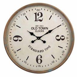 Clayre & Eef Clock Ø 60*6 cm / 1xAA