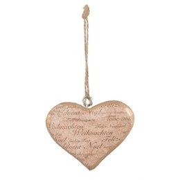 Clayre & Eef Hanger heart 13*2*13 cm