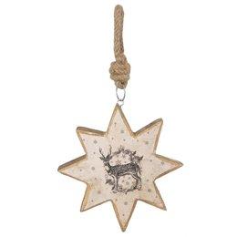 Clayre & Eef Hanger star 15*2*16 cm
