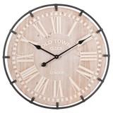 Clayre & Eef Clock Ø 61*5 cm / 1xAA