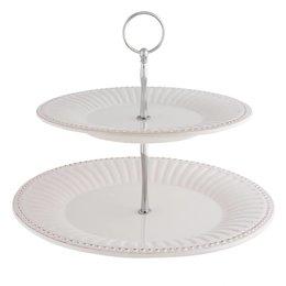 Clayre & Eef Tiered platter Ø 28*23 cm
