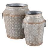 Clayre & Eef 6Y2685 Metalen potten (set)