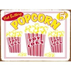 Tin sign Hot Buttery Popcorn 40x30