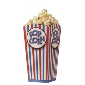 Popcorn vouwbeker - normaal - set van 10 stuks
