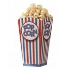 Popcorn vouwbeker - groot set van 10