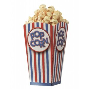 Popcorn vouwbeker - groot - set van 10
