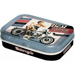 Nostalgic Art Pillendoosje Pin-Up Best Garage for Motorcycles
