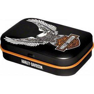 Nostalgic Art Pillendoosje Harley Davidson logo met Eagle
