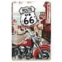 Nostalgic Art Tin Sign Route 66 Motorbike 20x30