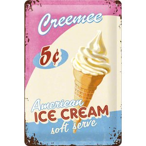 Nostalgic Art Tin Sign Ice Cream 20x30