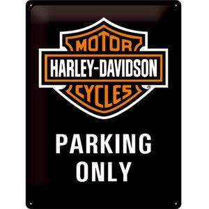 Nostalgic Art Tin Sign Harley Davidson Parking Only 30x40
