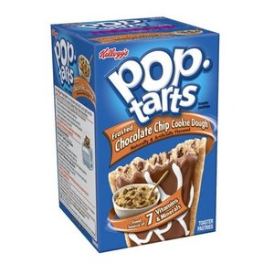 Kelloggs Pop Tarts Chocolate Chip Cookie Dough Frosted