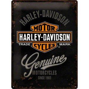 Nostalgic Art Tin Sign Harley Davidson Genuine 30x40