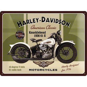 Nostalgic Art Tin Sign Harley Davidson 1936 Knucklehead 40x30
