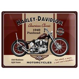 Nostalgic Art Tin Sign Harley Davidson 1949 Panhead 40x30