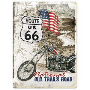 Nostalgic Art Tin Sign Route 66 National Old Trails Road 30x40