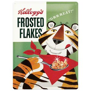 Nostalgic Art Tin Sign Kellogg's Sugar Frosted Flakes 30x40