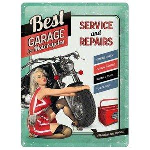 Nostalgic Art Tin Sign Best Garage Green 30x40