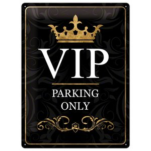 Nostalgic Art Tin Sign VIP Parking Only 30x40