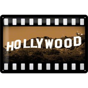 Nostalgic Art Tin Sign Hollywood 30x20