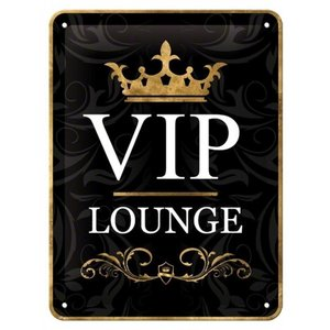 Nostalgic Art Tin Sign VIP Lounge 15x20