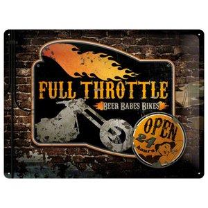 Nostalgic Art Tin Sign Full Throttle 40x30