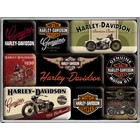 Nostalgic Art Magneetset Harley Davidson Motorcycles (9x)