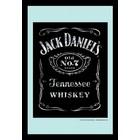 Bedrukte spiegel Jack Daniels logo black