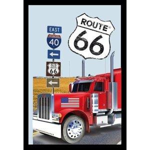 Bedrukte spiegel Route 66 Truck
