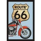 Bedrukte spiegel Route 66 Red Motor