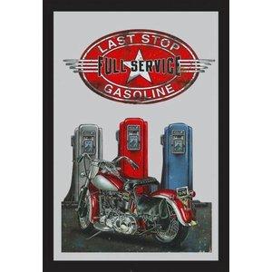 Bedrukte spiegel Gasoline Stop