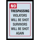 Bedrukte spiegel No Trespassing