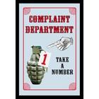 Bedrukte spiegel Complaint Department