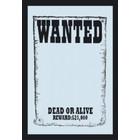 Bedrukte spiegel Wanted - Dead or alive