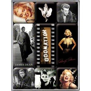 Nostalgic Art Magneetset Hollywood Celebrities (9x)