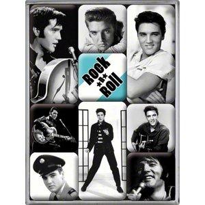 Nostalgic Art Magneetset Elvis (9x)