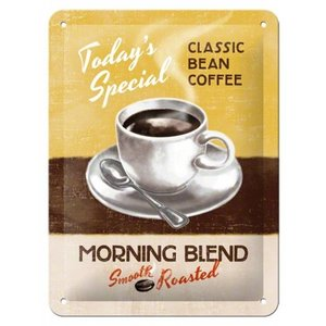 Nostalgic Art Tin Sign Morning Blend Coffee 15x20