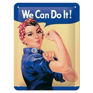 Nostalgic Art Tin Sign We Can Do It! 15x20