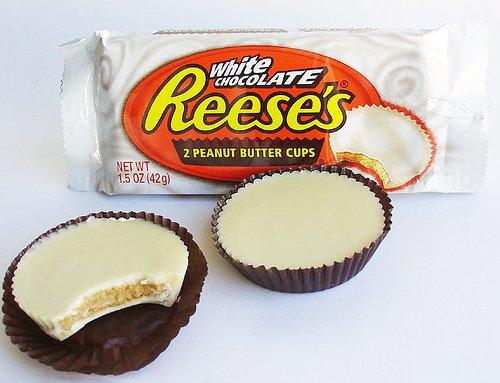 peanut butter cups white chocolate voor de amerikaanse peanut butter ...