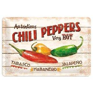 Nostalgic Art Tin Sign Chili Peppers 30x20