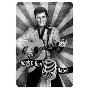 Nostalgic Art Tin Sign Elvis - Rock'n Roll Baby 20x30