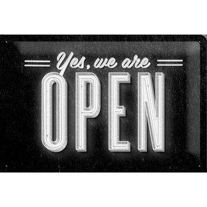 Nostalgic Art Tin Sign Yes, We are Open 30x20